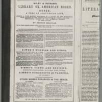 """<em>""""</em>Wiley &amp; Putnam's Literary News-Letter [April, 1846].""""<br />recto &amp; verso"""